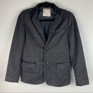 Zara Boys Blazer Faux Leather